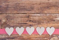 Διακόσμηση υποβάθρου αγάπης καρδιών για το βαλεντίνο Στοκ φωτογραφία με δικαίωμα ελεύθερης χρήσης