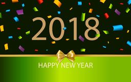 Διακόσμηση υποβάθρου καλής χρονιάς 2018 Κομφετί προτύπων 2018 σχεδίου ευχετήριων καρτών διανυσματική απεικόνιση
