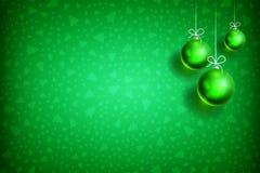 Διακόσμηση υπόβαθρο-03 σφαιρών Χριστουγέννων Στοκ Φωτογραφία