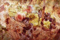 Διακόσμηση φθινοπώρου - αφηρημένο υπόβαθρο φθινοπώρου Στοκ Εικόνα