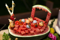 Διακόσμηση φρούτων στοκ φωτογραφίες με δικαίωμα ελεύθερης χρήσης