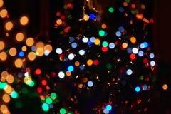 Διακόσμηση φω'των Χαρούμενα Χριστούγεννας Στοκ εικόνα με δικαίωμα ελεύθερης χρήσης