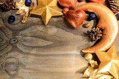Διακόσμηση χαιρετισμού καρτών Χριστουγέννων Στοκ φωτογραφίες με δικαίωμα ελεύθερης χρήσης