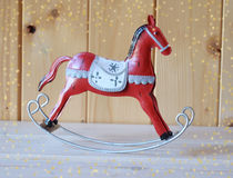 Διακόσμηση Χριστουγέννων, άλογο λικνίσματος Στοκ Εικόνα