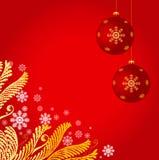 διακόσμηση Χριστουγέννων ανασκόπησης Στοκ Φωτογραφίες