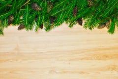 Διακόσμηση Χριστουγέννων από το δέντρο έλατου και τον κώνο κωνοφόρων Στοκ φωτογραφίες με δικαίωμα ελεύθερης χρήσης
