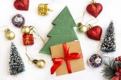 Διακόσμηση Χριστουγέννων κολάζ Στοκ φωτογραφία με δικαίωμα ελεύθερης χρήσης
