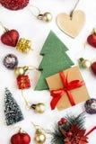 Διακόσμηση Χριστουγέννων κολάζ Στοκ εικόνες με δικαίωμα ελεύθερης χρήσης