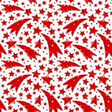 Διακόσμηση Χριστουγέννων με τα βρώμικα κόκκινα αστέρια Χριστουγέννων Στοκ Φωτογραφία