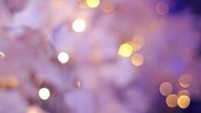 Διακόσμηση Χριστουγέννων με τα θολωμένα φω'τα, bokeh απόθεμα βίντεο