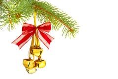 Διακόσμηση Χριστουγέννων με τα κουδούνια που απομονώνονται Στοκ φωτογραφία με δικαίωμα ελεύθερης χρήσης