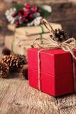 Διακόσμηση Χριστουγέννων με τα δώρα Στοκ Φωτογραφία