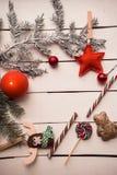 Διακόσμηση Χριστουγέννων με το κάψιμο του κεριού Στοκ Φωτογραφίες