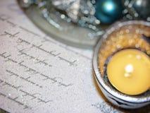 Διακόσμηση Χριστουγέννων με το κερί Στοκ εικόνες με δικαίωμα ελεύθερης χρήσης