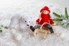 Διακόσμηση Χριστουγέννων με το παιχνίδι Στοκ Φωτογραφίες