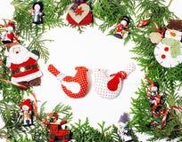Διακόσμηση Χριστουγέννων που απομονώνονται, άσπρο υπόβαθρο για τον τρύγο δώρων καρτών στοκ εικόνες με δικαίωμα ελεύθερης χρήσης