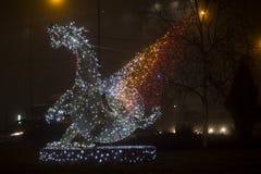 Διακόσμηση Χριστουγέννων δράκων Στοκ εικόνες με δικαίωμα ελεύθερης χρήσης