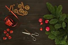 Διακόσμηση Χριστουγέννων σε έναν ικανό Στοκ Εικόνες