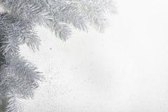 Διακόσμηση Χριστουγέννων στους ασημένιους τόνους Στοκ Φωτογραφία