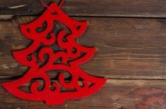 Διακόσμηση Χριστουγέννων στους ξύλινους πίνακες Στοκ εικόνες με δικαίωμα ελεύθερης χρήσης