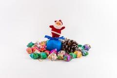 Διακόσμηση Χριστουγέννων στο απομονωμένο υπόβαθρο Στοκ Φωτογραφία