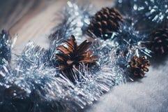 Διακόσμηση Χριστουγέννων στο ασήμι Στοκ Εικόνα