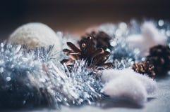 Διακόσμηση Χριστουγέννων στο ασήμι Στοκ εικόνες με δικαίωμα ελεύθερης χρήσης