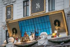 Διακόσμηση Χριστουγέννων στο ξενοδοχείο d'Angleterre Κοπεγχάγη Στοκ Φωτογραφία