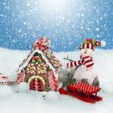 Διακόσμηση Χριστουγέννων στο χιόνι στοκ εικόνες