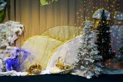 Διακόσμηση Χριστουγέννων της σκηνής στοκ εικόνα