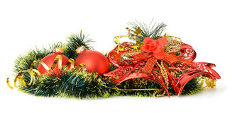 Διακόσμηση Χριστουγέννων των αντικειμένων Στοκ Εικόνες