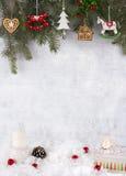 Διακόσμηση Χριστουγέννων, grunge υπόβαθρο, κάρτα Χριστουγέννων στοκ φωτογραφία