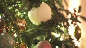 Διακόσμηση χριστουγεννιάτικων δέντρων απόθεμα βίντεο