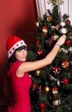 Διακόσμηση χριστουγεννιάτικων δέντρων Στοκ φωτογραφία με δικαίωμα ελεύθερης χρήσης