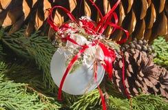 Διακόσμηση χριστουγεννιάτικων δέντρων στοκ εικόνα
