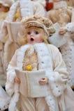 Διακόσμηση Carolers Χριστουγέννων Στοκ Εικόνες