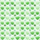 Διακόσμηση Morrocan των πράσινων χρωμάτων στο άσπρο υπόβαθρο Άνευ ραφής σχέδιο Watercolor ελεύθερη απεικόνιση δικαιώματος