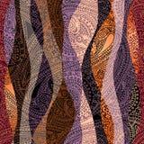 Διακόσμηση Paisley με τα κύματα ελεύθερη απεικόνιση δικαιώματος