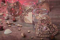 Διακόσμηση Wellness, έννοια SPA σε Valentine& x27 ημέρα του s Στοκ εικόνες με δικαίωμα ελεύθερης χρήσης