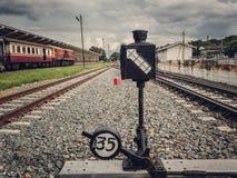 Διακλάδωση σιδηροδρόμων Διακόπτης σιδηροδρόμων Στοκ φωτογραφίες με δικαίωμα ελεύθερης χρήσης