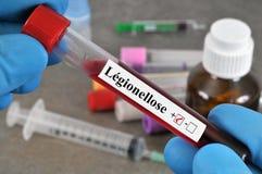 Διαλογή αίματος για το legionellosis στοκ εικόνα