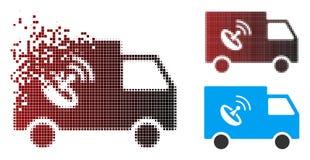 Διαλυμένος ημίτονος τηλεχειρισμός Van Icon εικονοκυττάρου διανυσματική απεικόνιση