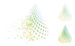 Διαλυμένο εικονίδιο κώνων εικονοκυττάρου ημίτονο διαστιγμένο αφηρημένο Διανυσματική απεικόνιση