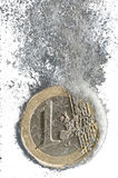 διαλύοντας ευρώ Στοκ Φωτογραφία