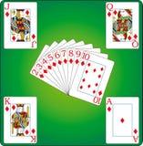 διαμάντια καρτών Στοκ Εικόνες