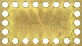 Διαμάντια στο χρυσό επίπεδο υπόβαθρο Στοκ Εικόνες