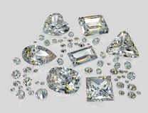 Διαμάντια, brilliants Στοκ Εικόνες