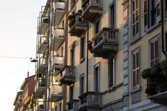Διαμέρισμα καναλιών περιοχής Navigli Στοκ εικόνα με δικαίωμα ελεύθερης χρήσης