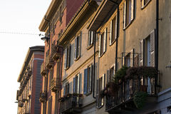 Διαμέρισμα καναλιών περιοχής Navigli Στοκ φωτογραφίες με δικαίωμα ελεύθερης χρήσης