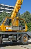 Διαμέρισμα πληρώματος ενός οχήματος γερανών Στοκ φωτογραφία με δικαίωμα ελεύθερης χρήσης